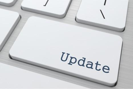De update knop symboliseert dat een online training altijd kan worden bijgewerkt naar nieuwere informatie