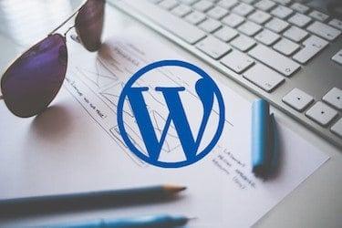 Wordpress logo en voorbeeld site