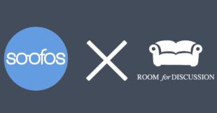 Logos van soofos en room for discussion symboliseren de samenwerking