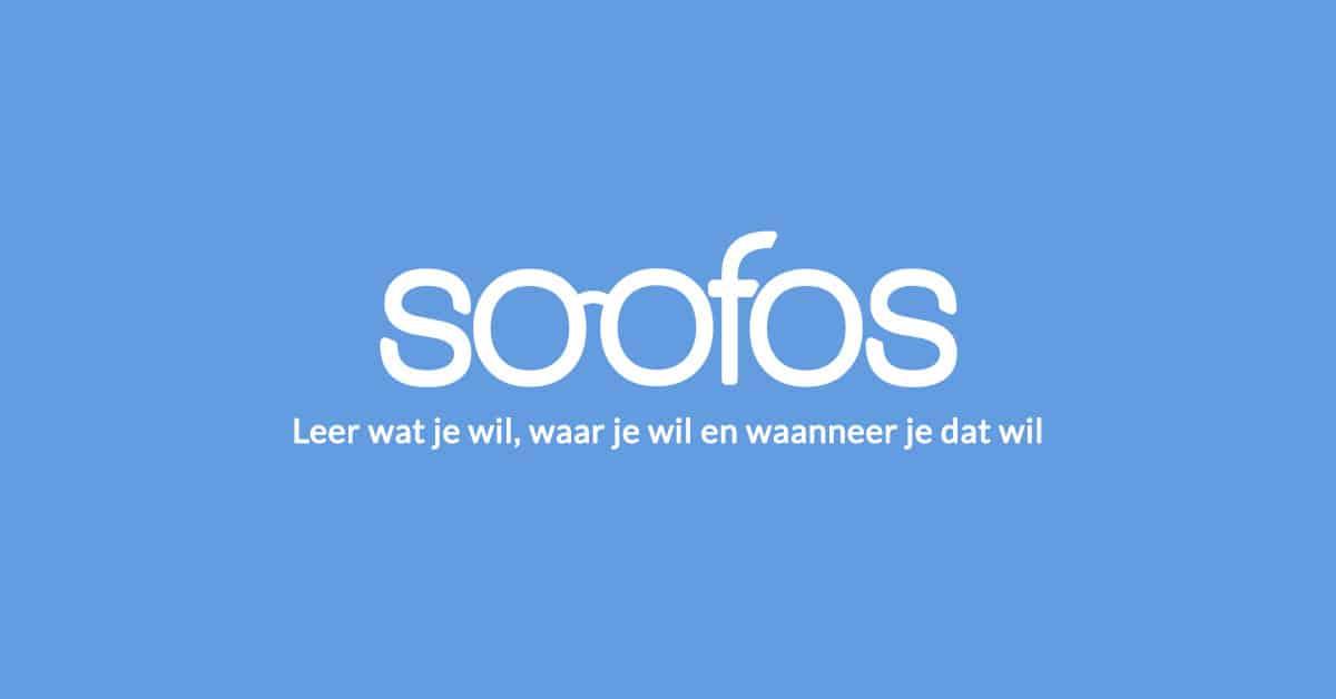 Logo van Soofos. Leer wat je wil, waar je wil, en wanneer je dat wil