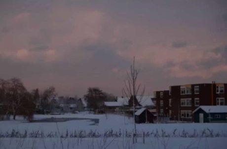 Winter landschap foto project voordat deze is bewerkt met Lightroom