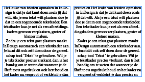 voorbeeld van tekstkolommen in indesign