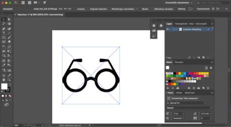 Stap 1 Illustrator logo designen