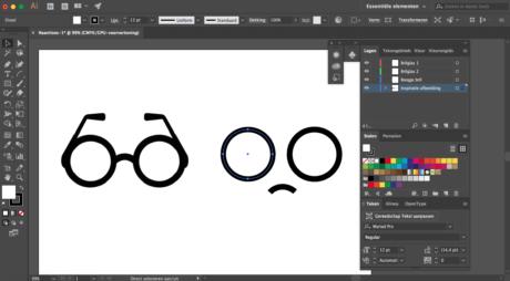 Stap 2 Illustrator logo designen