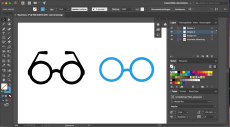Stap 4 Illustrator logo designen