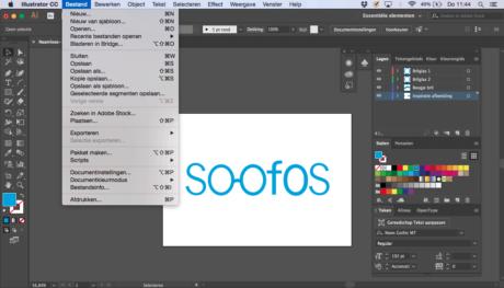 Stap 6 Illustrator logo designen