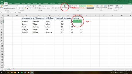 Macro maken in Excel: Stap 3