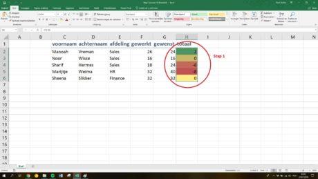 Macro maken in Excel: Stap 4