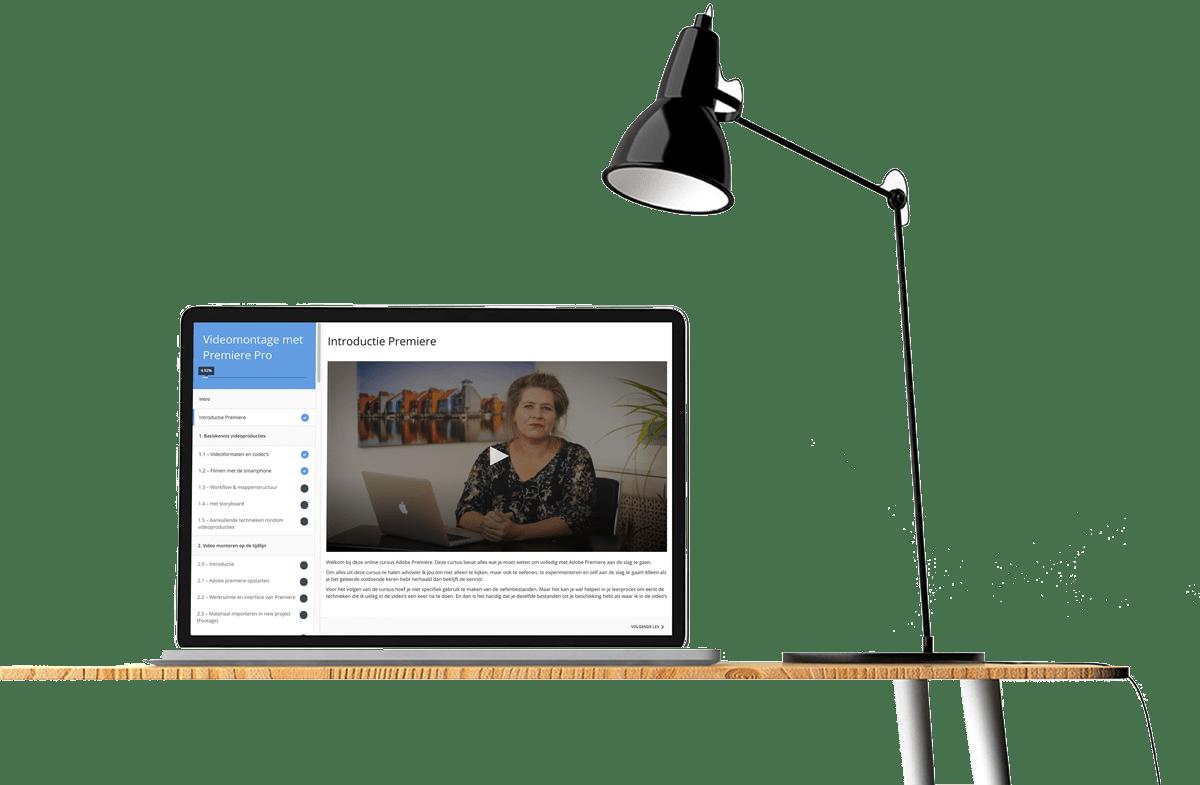 Voorbeeld van online educatie als onderdeel van curriculum: videomontagelessen