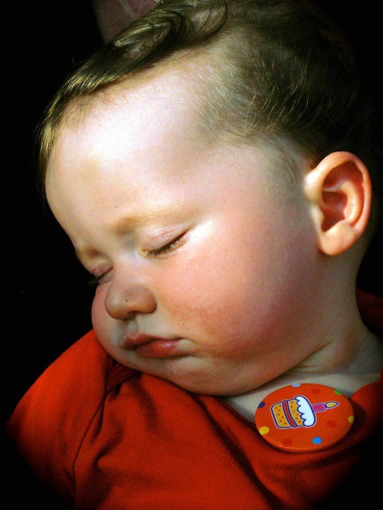 Foto van slapend kindje.