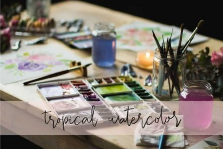 Online cursus Aquarel schilderen tropical watercolor