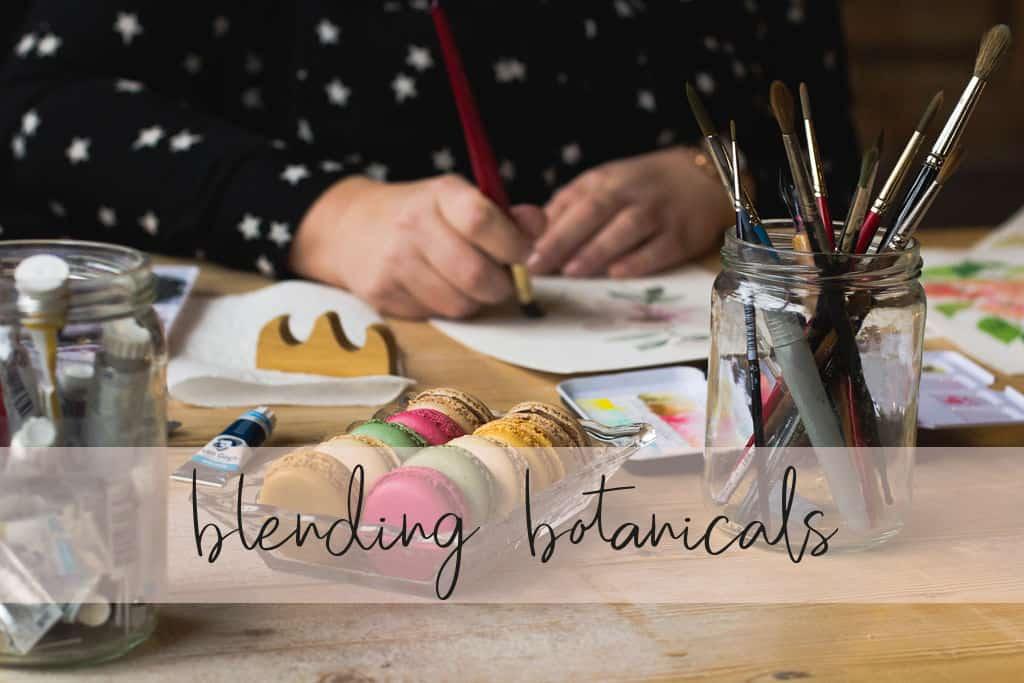 Online cursus aquarel Blending botanicals