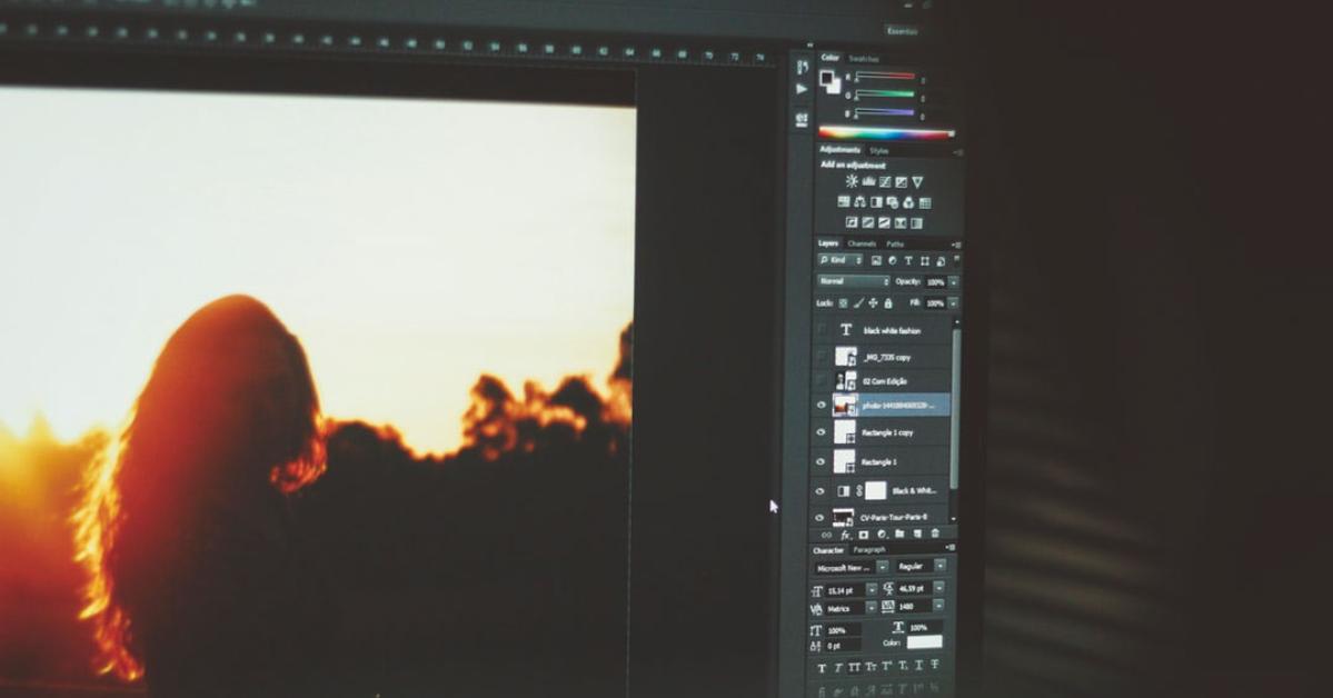 fotobewerking met programma