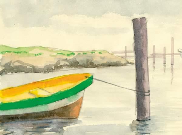 Aquarel boot