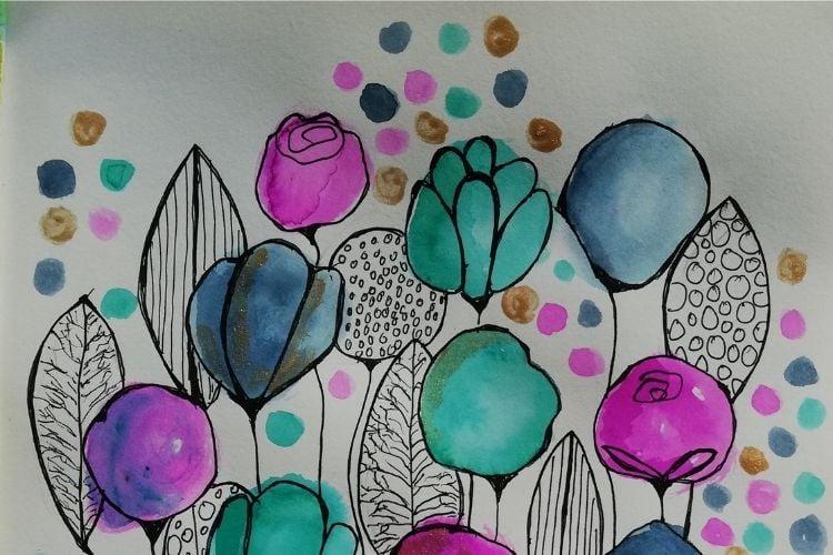 In deze online cursus van Hettie Rensink leer je alles over het maken van je eigen art journal en het gebruik van inkt