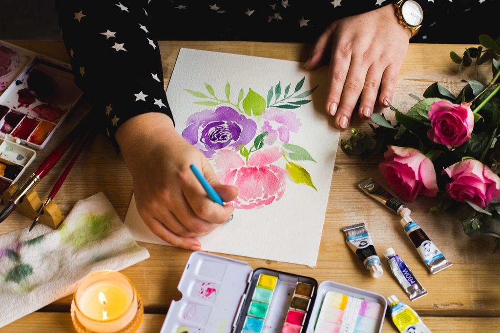 In de cursus Aquarel: Botanical Watercolor leer je om een prachtig boeket bloemen te schilderen