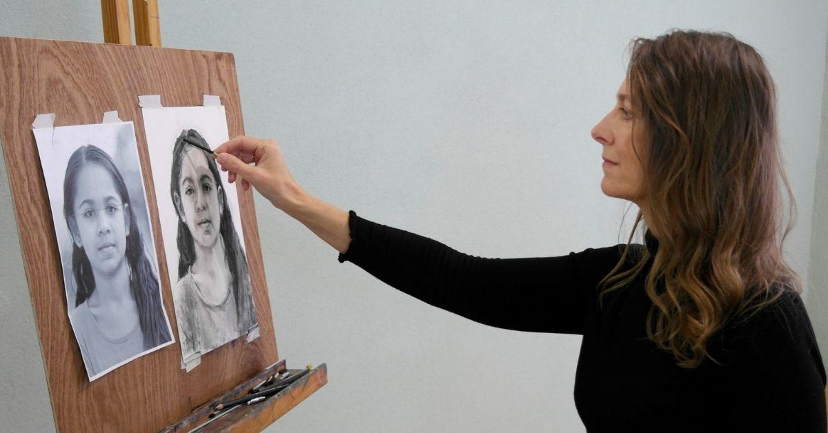Kunstenaresse Helene Gandolfi kan jou online leren portrettekenen