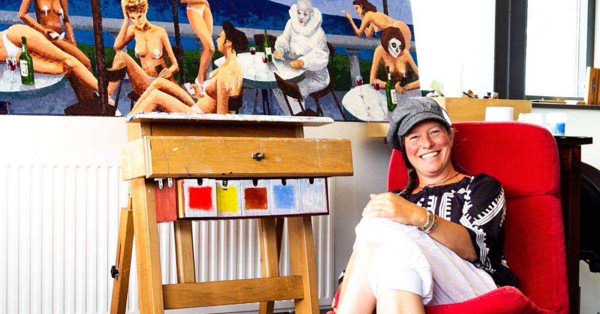 Sasja Bork van de online schilderschool leert jou schilderen met olieverf, of de basis van tekenen