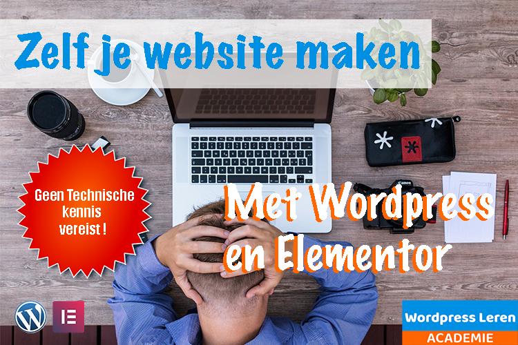In deze cursus leer je zelf een website te maken met behulp van wordpress en elementor