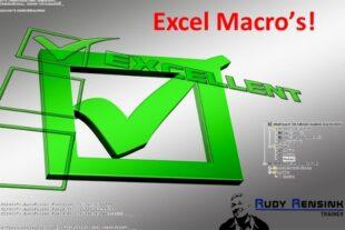 Online cursus Macro's maken in Excel