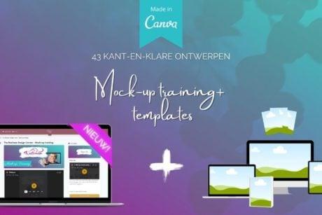 In deze online cursus leer je snel hoe je mockups kunt maken in canva