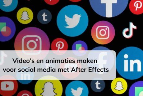 In deze online cursus leer je hoe je video's en animaties kunt maken met Adobe After Effects die je kunt gebruiken voor social media