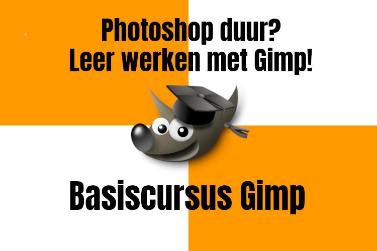 Photoshop duur? Leer werken met Gimp