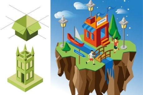 Leer hoe je isometrische illustraties kunt maken met Adobe Illustrator
