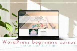 In deze online cursus leer je hoe je je eigen website kunt maken in WordPress