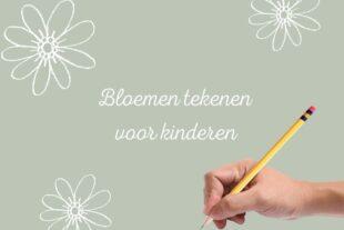 Online cursus bloemen tekenen voor kinderen